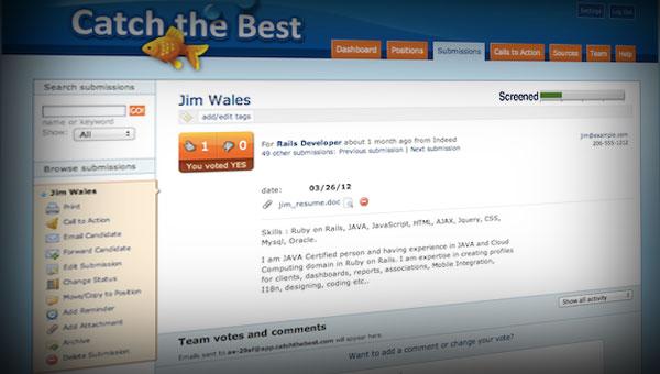 Catch the Best - Resume Workflow Engine